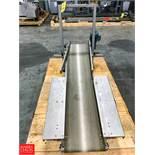 "70"" Length Hellings S/S Frame Power Belt Conveyor with Drive, 14.25"" Width Rigging Fee: $ 75"