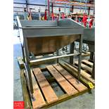 """S/S Feed Hopper, 51""""x 51""""X 62.5""""Height Rigging Fee: $ 75"""