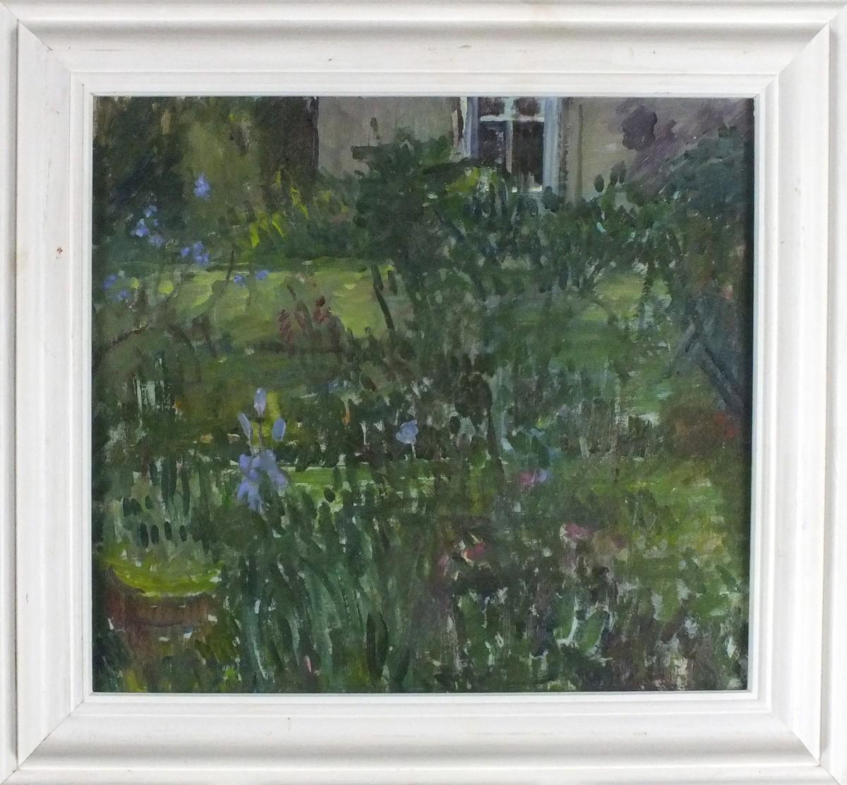 Lot 11 - Pat ALGAR (British 1939 - 2013) 'Chymorvah' - The Artist's Garden, Oil on board, Signed,