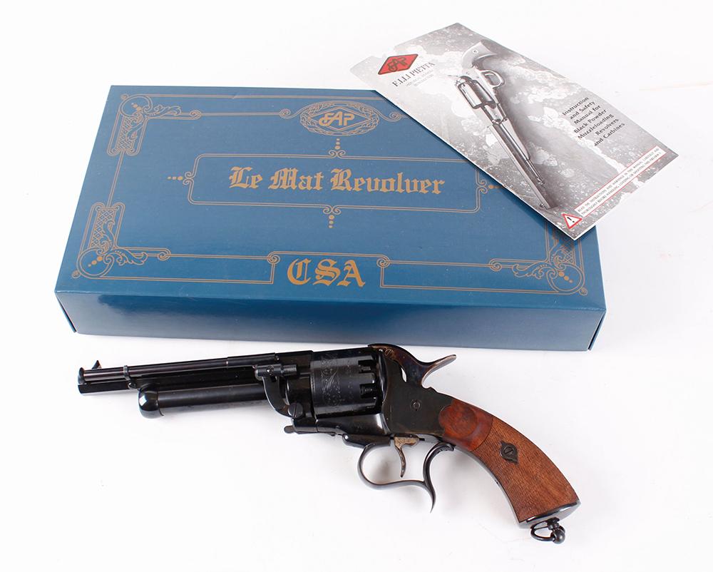 (S1) .44/20 bore Pietta Le Matt black powder percussion 9 shot revolver, 7 ins octagonal barrel ( - Image 9 of 9