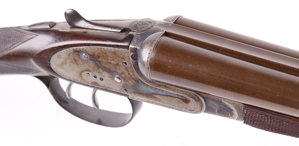 (S2) 12 bore sidelock ejector by Thomas Bland & Sons, 28 ins brown damascus barrels (recent nitro - Image 3 of 7