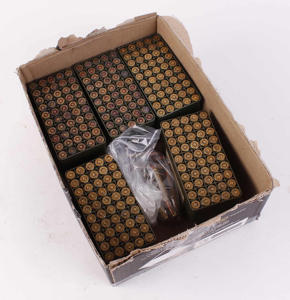 (S1) 113 x 7.62mm FMJ rifle cartridges with 150 brass cases for reloading [Purchasers please note: