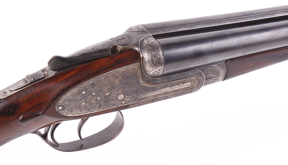 (S2) 12 bore sidelock ejector by AYA No.2, 26 ins chopper lump barrels, ¼ & ½, 70 mm chambers, - Image 2 of 2