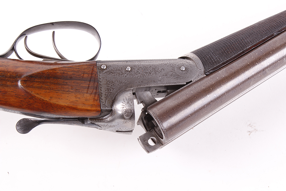 (S2) 12 bore lightweight boxlock ejector by E. Roberts, with two sets of brown damascus barrels, the - Image 8 of 14