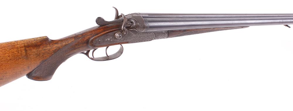 (S2) 16 bore double hammer gun by Franz Sodia (Austria), 27¼ ins barrels, engine turned game rib,