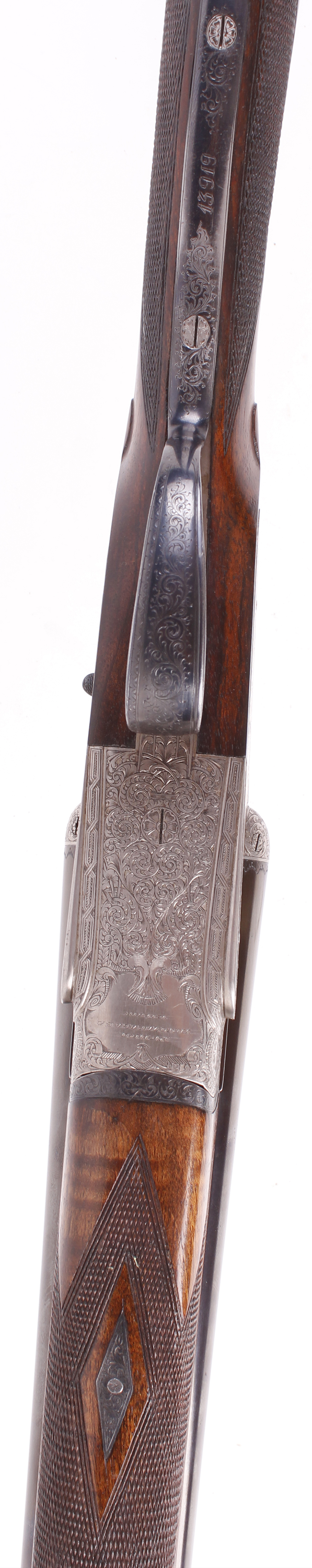 (S2) 20 bore self opening sidelock ejector by Pedro Arrizabalaga, with 26½ ins chopper lump barrels, - Image 9 of 22