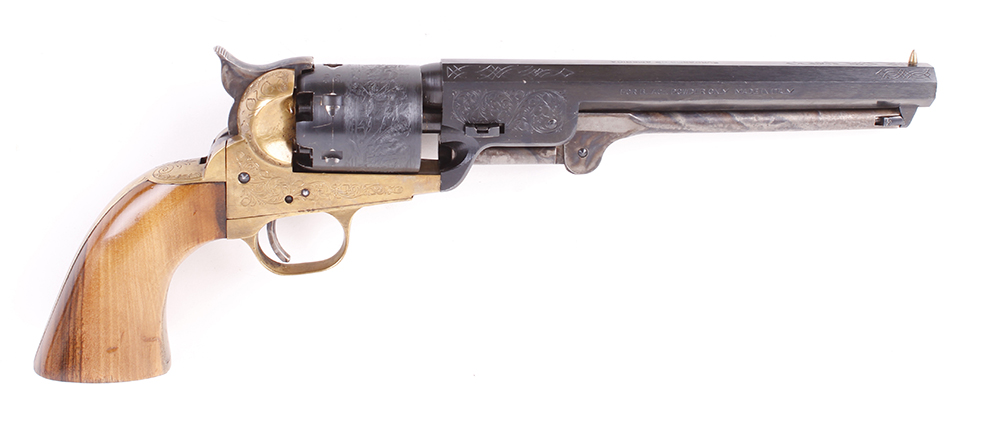 (S1) .36 Euroarms 'Navy Model' percussion black powder revolver, 7½ ins octagonal sighted barrel, - Image 2 of 2
