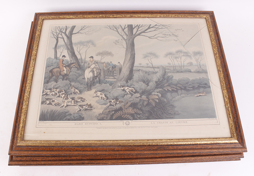 Seven various framed and glazed prints, mostly hunting and shooting scenes - Image 5 of 7