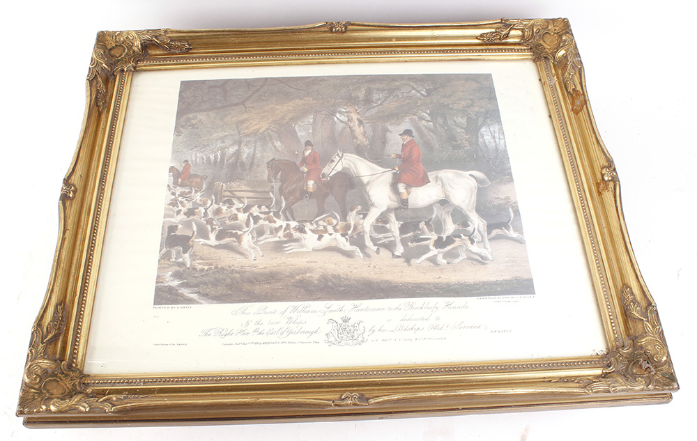Seven various framed and glazed prints, mostly hunting and shooting scenes - Image 7 of 7