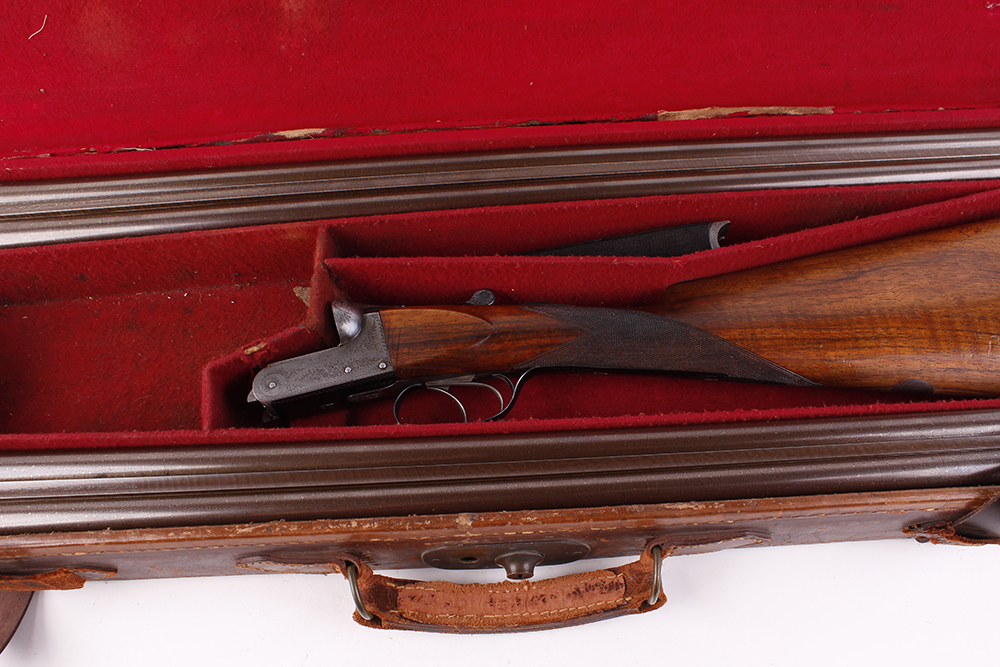 (S2) 12 bore lightweight boxlock ejector by E. Roberts, with two sets of brown damascus barrels, the - Image 13 of 14