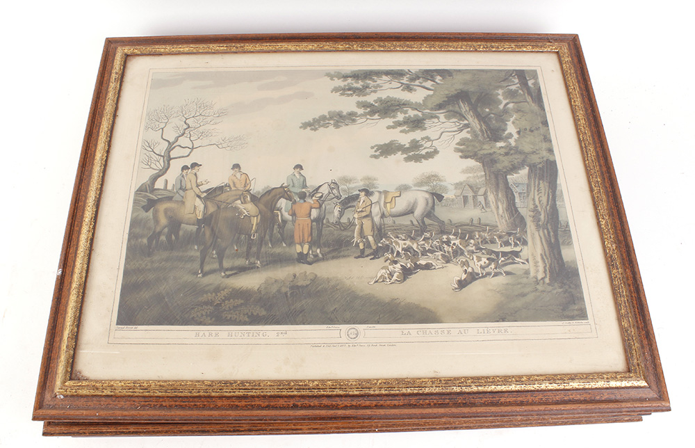 Seven various framed and glazed prints, mostly hunting and shooting scenes - Image 6 of 7