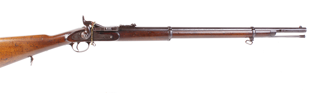 Lot 667 - (S58) .577 Snider Enfield Mk III Ordnance Issue, 30 ins two band barrel, blade and ramp sights,