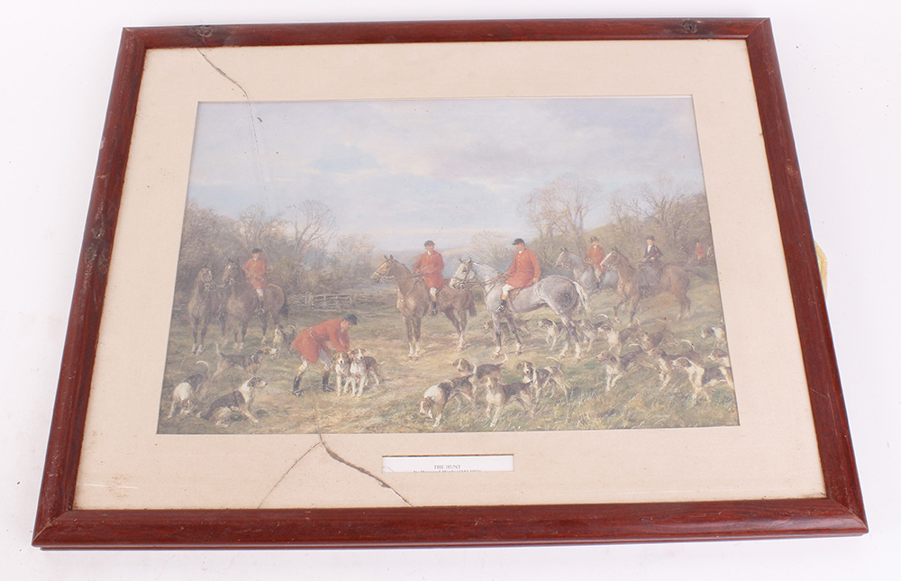 Seven various framed and glazed prints, mostly hunting and shooting scenes - Image 2 of 7