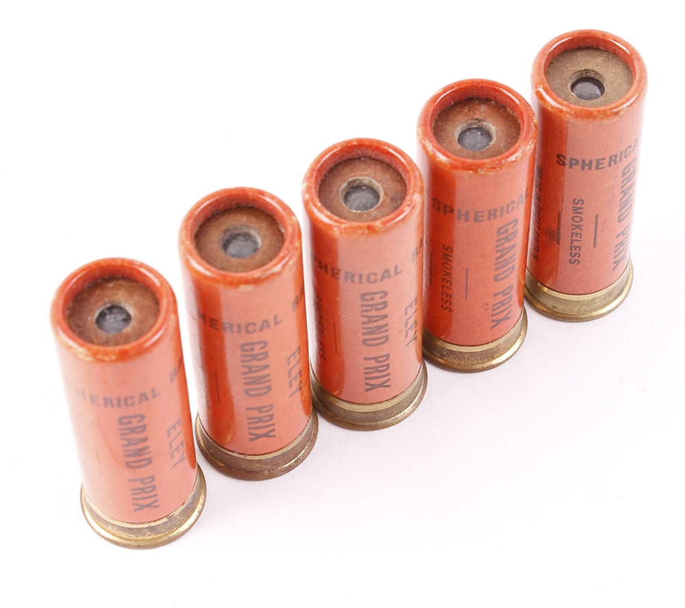 (S1) 5 x 12 bore Eley GP spherical ball cartridges [Purchasers please note: Section 1 licence