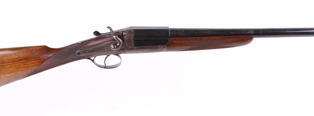 (S2) 16 bore single hammer gun by Army & Navy, 28¼ ins barrel, ½ choke, the breech inscribed