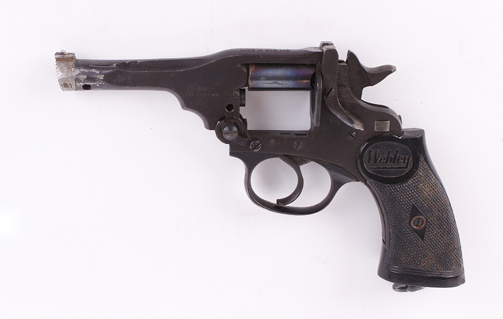 (S5-SF31) .32 Webley single shot humane dispatch pistol (revolver conversion), no. 209 [Purchasers - Image 2 of 2