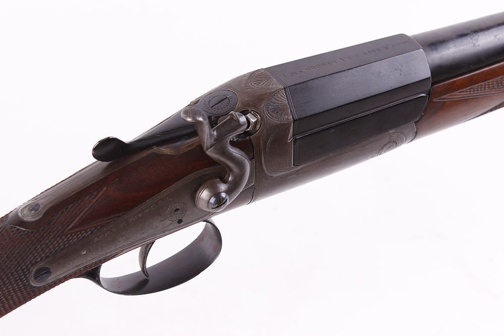 (S2) 16 bore single hammer gun by Army & Navy, 28¼ ins barrel, ½ choke, the breech inscribed - Image 2 of 2