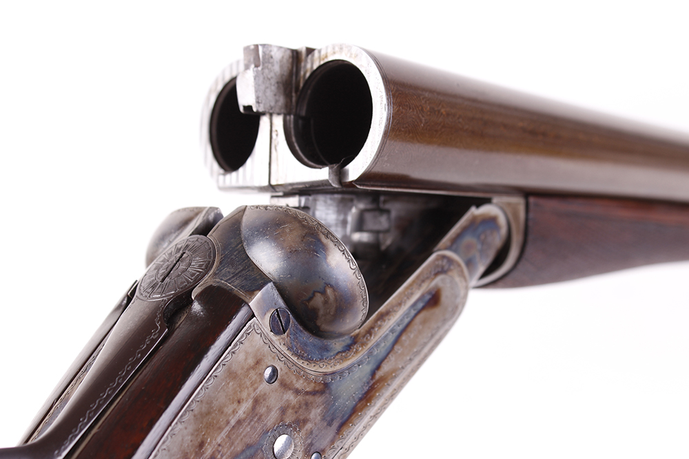 (S2) 12 bore sidelock ejector by Thomas Bland & Sons, 28 ins brown damascus barrels (recent nitro - Image 7 of 7