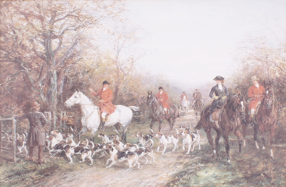 Seven various framed and glazed prints, mostly hunting and shooting scenes