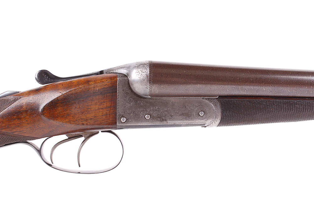 (S2) 12 bore lightweight boxlock ejector by E. Roberts, with two sets of brown damascus barrels, the - Image 3 of 14