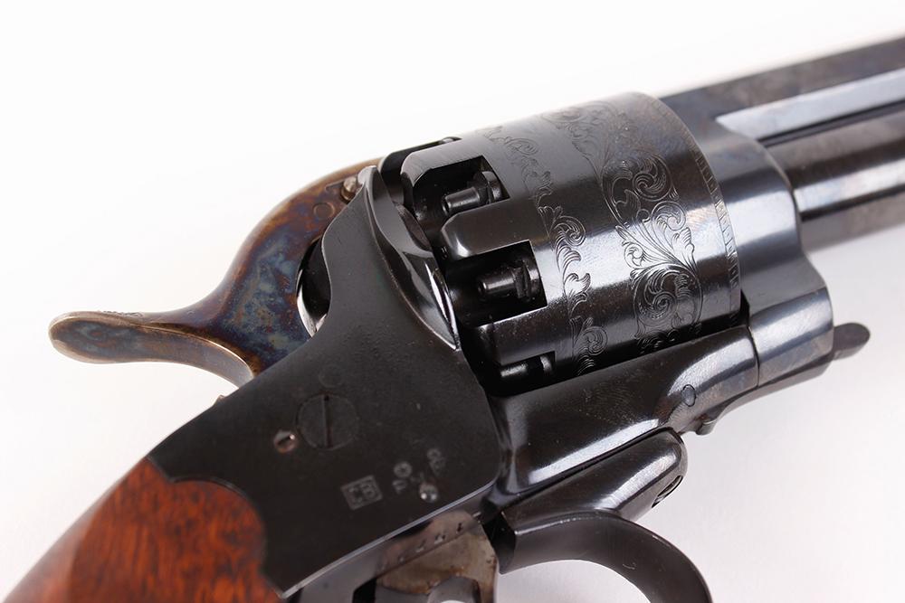 (S1) .44/20 bore Pietta Le Matt black powder percussion 9 shot revolver, 7 ins octagonal barrel ( - Image 6 of 9