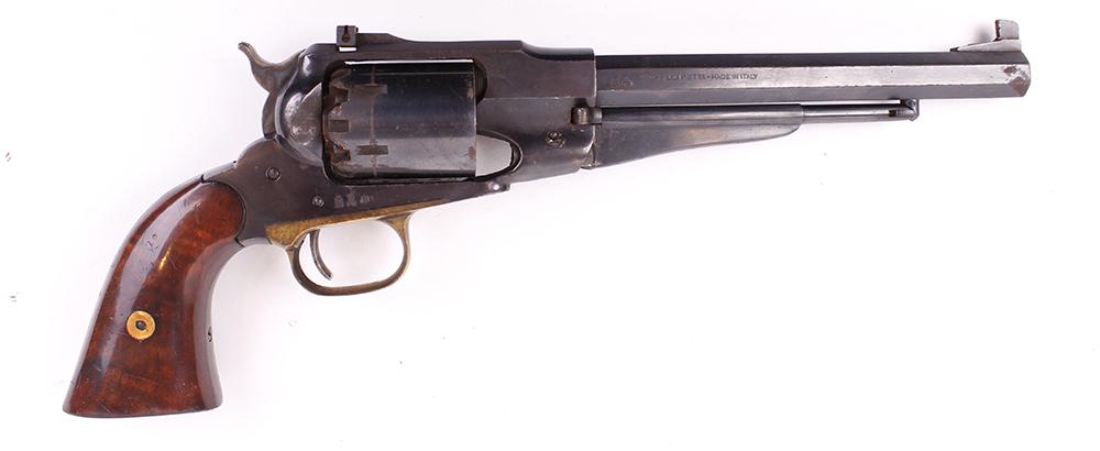 (S1) .44 Pietta Remington 1858 percussion black powder target revolver, 8 ins octagonal barrel,