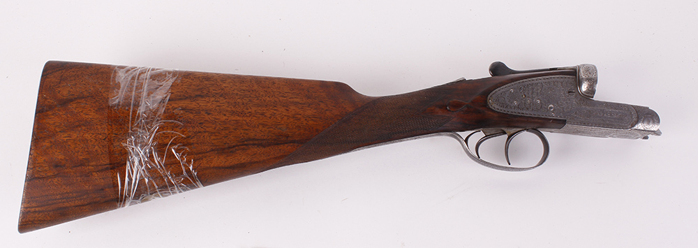 (S2) The stock action and forend of a 12 bore sidelock ejector by F. Williams, originally with 28