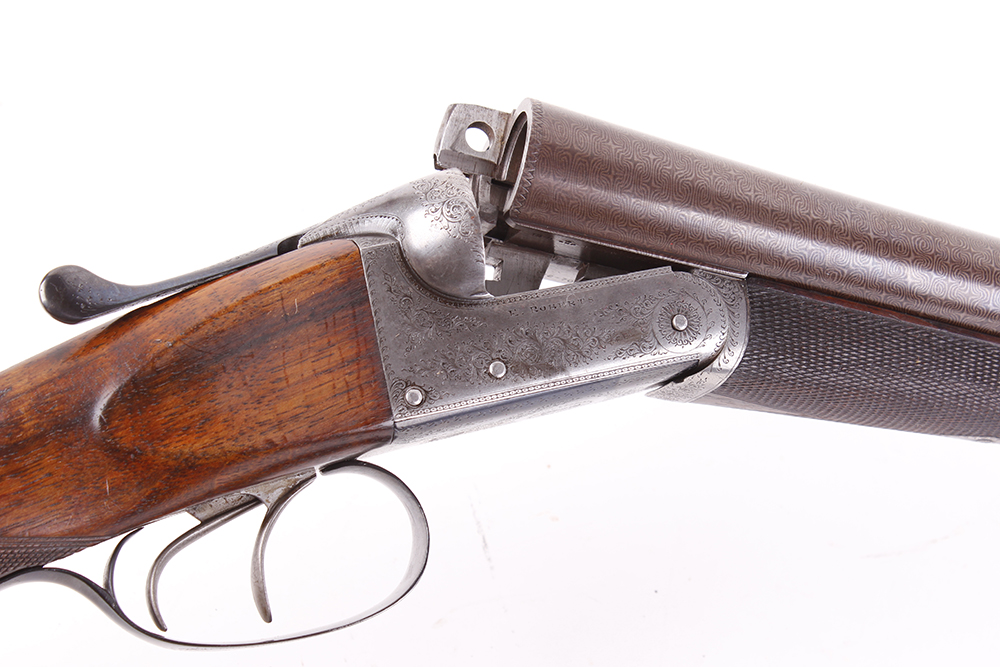 (S2) 12 bore lightweight boxlock ejector by E. Roberts, with two sets of brown damascus barrels, the - Image 7 of 14