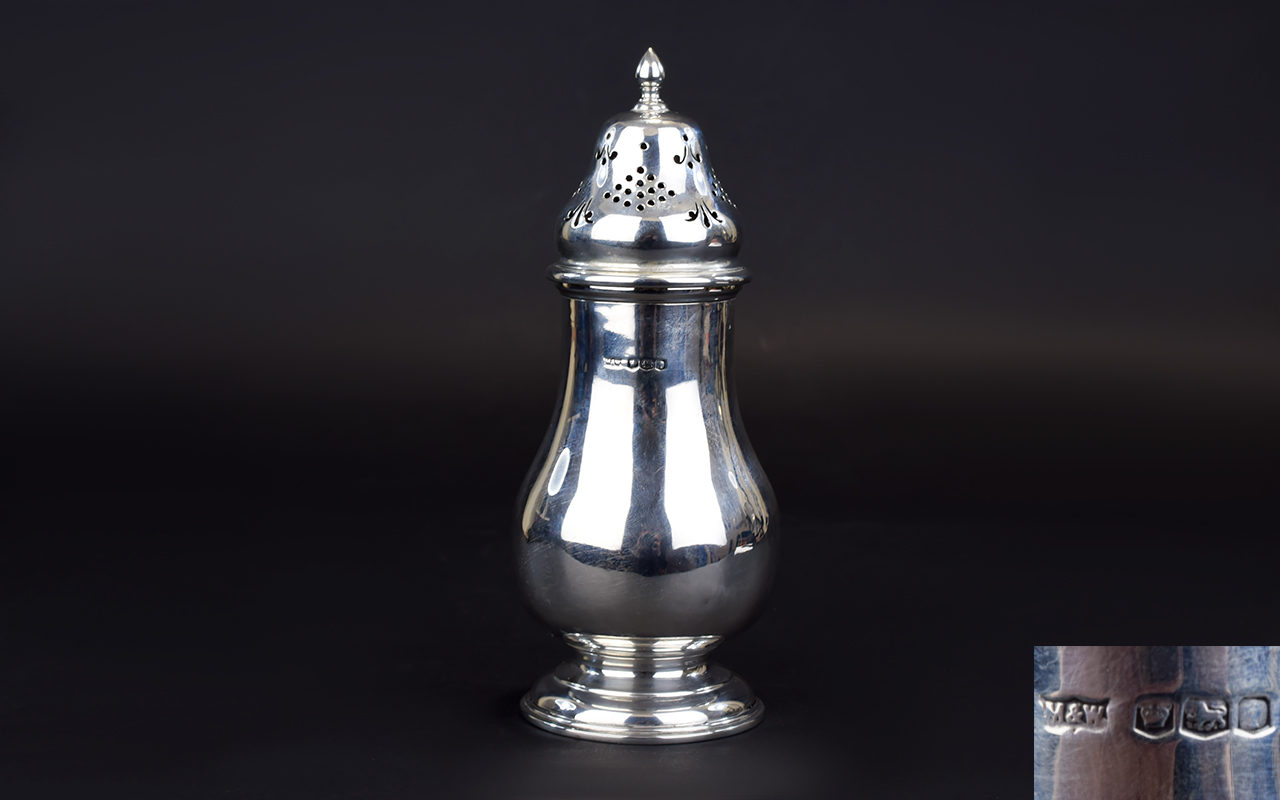 Lot 115 - Mappin and Webb Silver Sugar Sifter of a