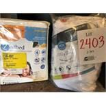 Assorted Single mattress protectors, 2 pcs