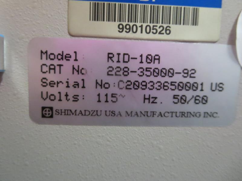 Lot 58 - Shimadzu RID-10A Refractive Index Detector