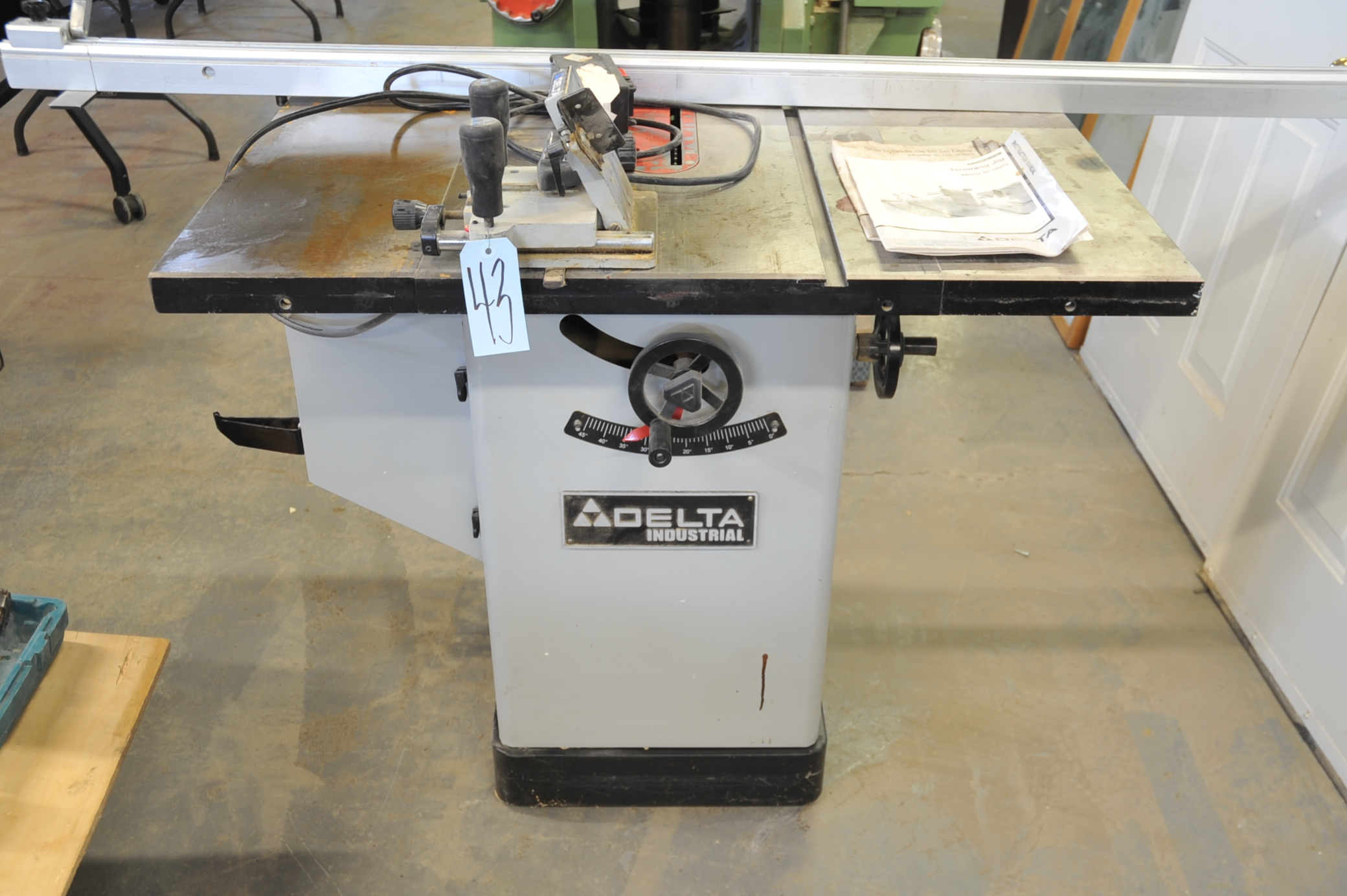 Delta Industrial Model 36 653c Table Saw S N 002258q