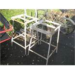 2 INDUSTRIAL TABLE STANDS