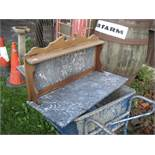 MARBLE WASHSTAND TOP AND BACK