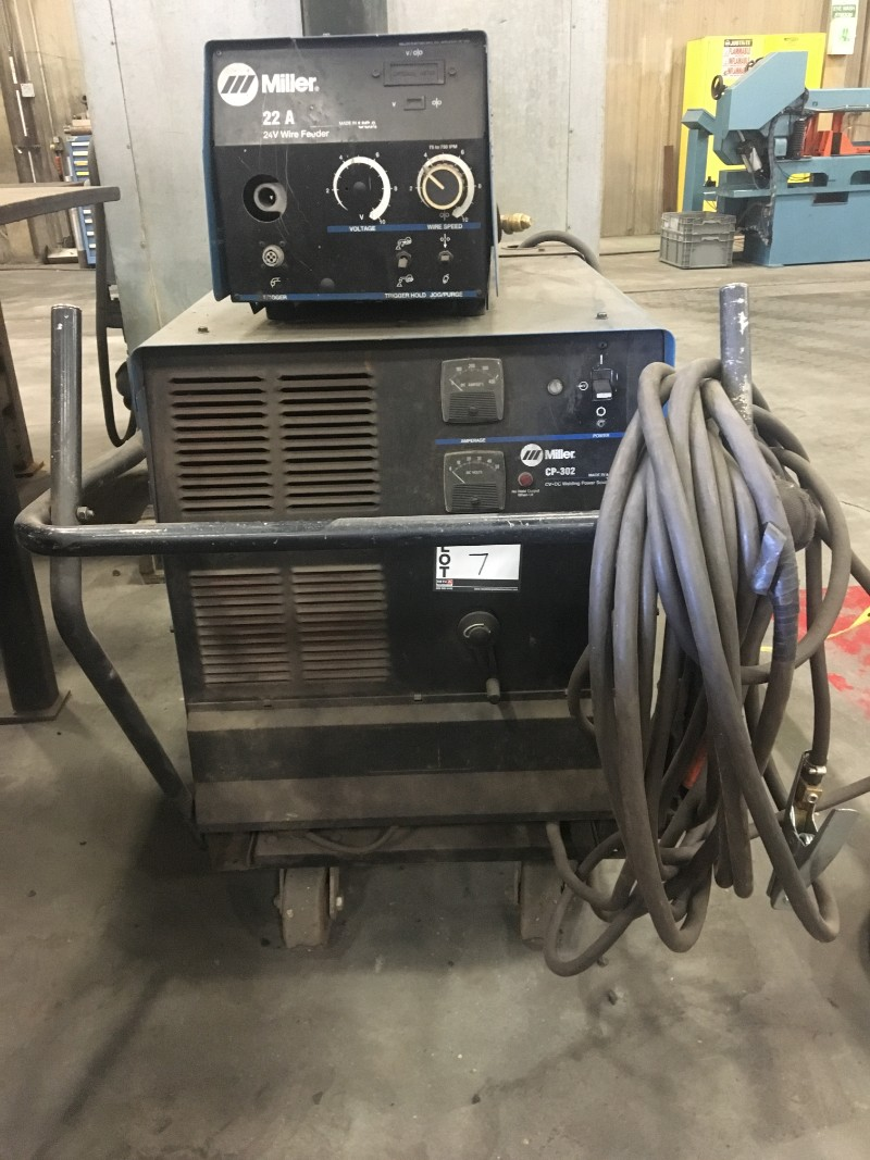Lot 7 - Miller CP-302 MIG Welder with 22A wirefeeder, s/n LC353073