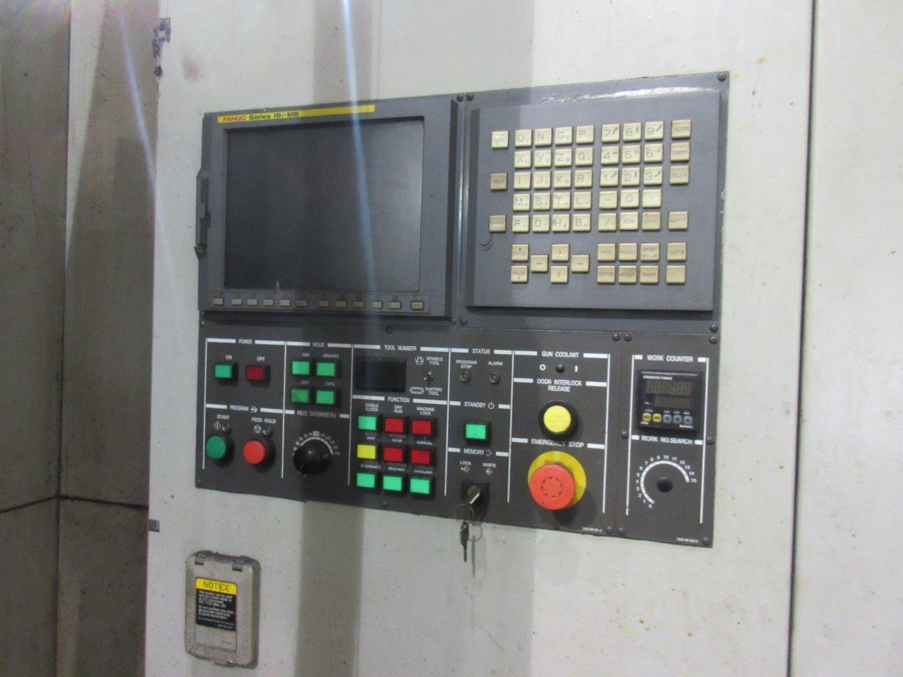 "Lot 57 - 5.3"" Hyundai Kia KBN-135 5 Axis CNC Table Type Horizontal Boring Mill, Fanuc 16i-MB control, 118."