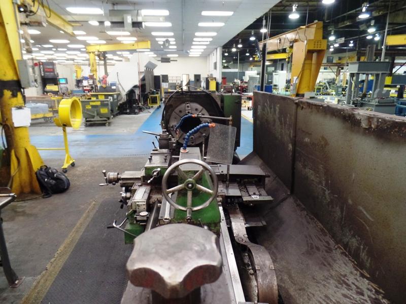 "Lot 60 - 32"" x 118"" Kuraki LC403 Hollow Spindle Engine Lathe, 12.5"" bore, taper turning attachment, (2) 24"" 4"