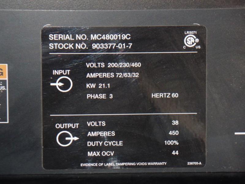 Lot 44 - Miller Deltaweld 452 MIG Welder, wire feeder, s/n MC480019C