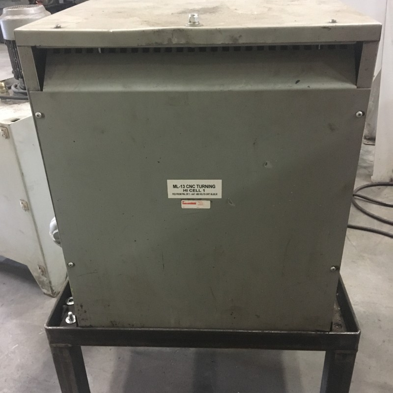 Lot 9 - Rex Mfg Transformer, 480V - 220V, 3 Ph, 60 hw, 45 KVA