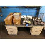 (LOT) MISC. GRINDING WHEELS WITH DESK