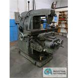 "HITACHI-SEIKI NO. 2 HORIZONTAL MILL; S/N N-5516, 53"" X 12"" TABLE, 20"" THROAT, SPINDLE SPEEDS TO 2,"