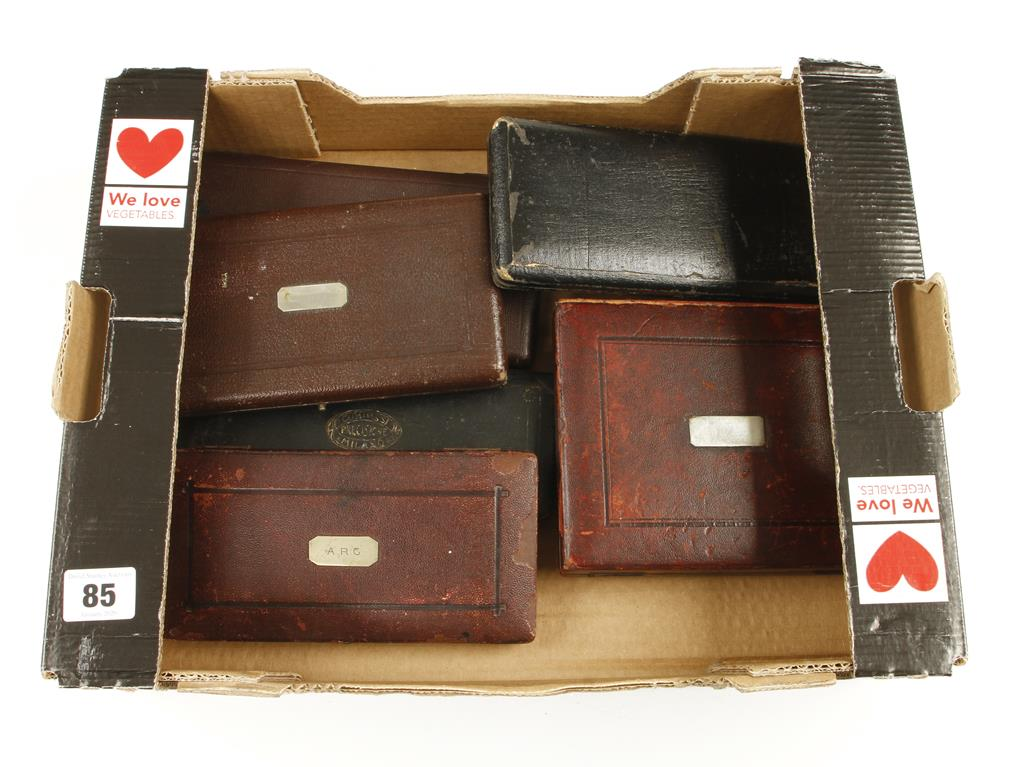 Lot 85 - Six small sets of drawing instruments G