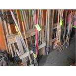 LOT ASSORTED TRENCH, ROUND & SQUARE POINT SHOVELS & POST HOLE DIGGERS APPROX. 70 PCS.