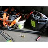 SAFETY HARNESSES AND STRAPS IN PLASTIC TUBS