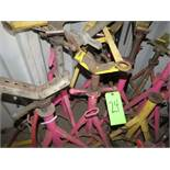 LOT 10-ASSORTED PIPE STAND SCREW TYPE JACKS