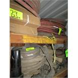LOT OF ASSORTED FIRE HOSES & PNEUMATIC AIR HOSES ONLY