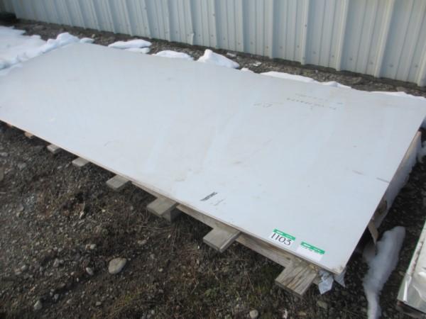 Lot 1103 - L1: 1 SS PLATE 5FT X 12FT X 12GA