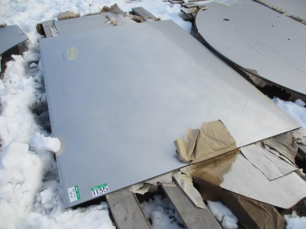 Lot 1135 - L1: PALLET OF 1/4IN PL SS CROP