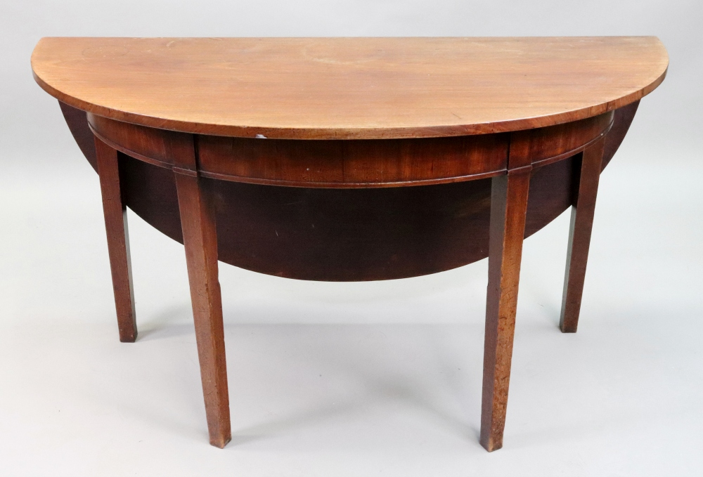 A George III mahogany dining table, with - Image 2 of 2