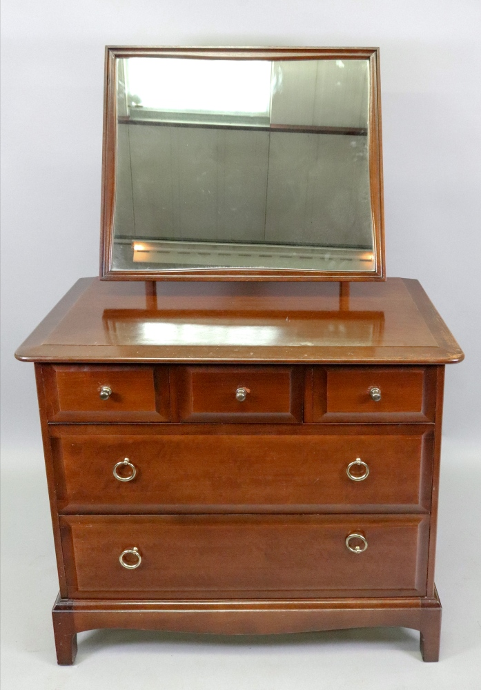 A Stag Minstrel mahogany dressing table,
